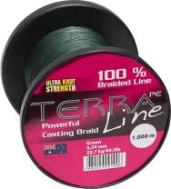 James Cook Terra PE Line 0,18mm 2000m green 10kg, geflochtene Angelschnur