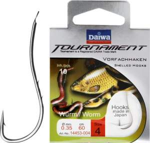Daiwa Tournament Wurmhaken bronze Gr.4 60cm 0.33mm SB10