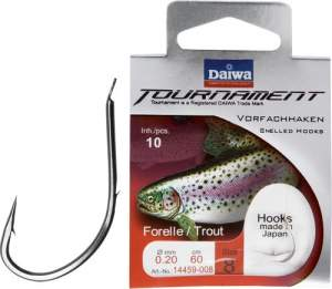 Daiwa Tournament Forellenhaken silber Gr.6 60cm 0.20mm SB10