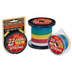 WFT NEW KG Strong multicolor, geflochtene Angelschnur, braided line