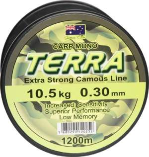 James Cook Terra Carpmono 0,35mm 14,3kg 1200m, monofile Angelschnur, mono line
