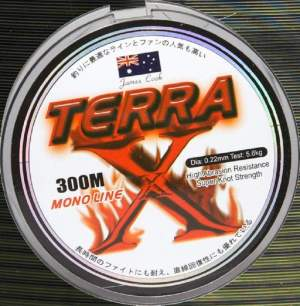 James Cook Terra mono 0,14mm 2,7kg ground 300m, monofile Angelschnur, mono line