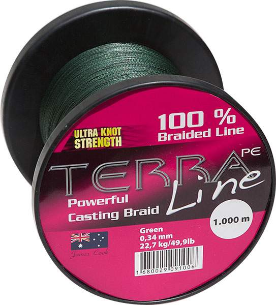 James Cook Terra PE Line 0,14mm 1000m green 6,4kg