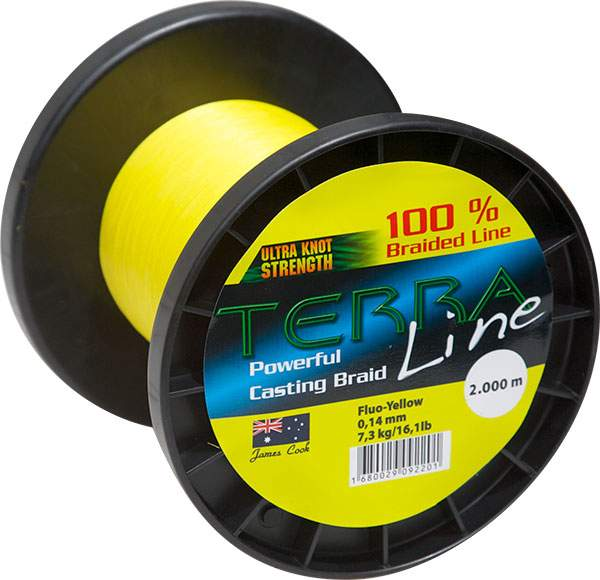 James Cook Terra Line 0,12mm 2000m fluo-yellow 6,1kg