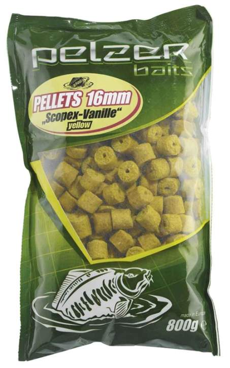 PELZER Pellets 800g 16mm yellow Scop/Van